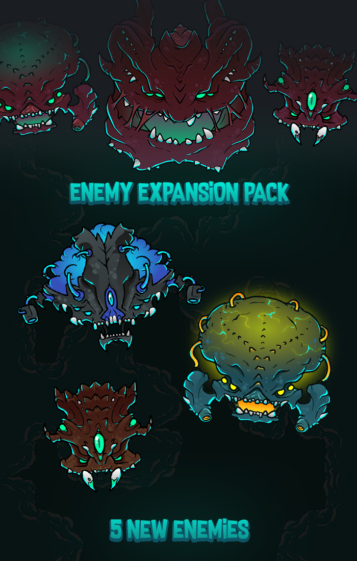 2D Space Shooter Enemy Pack