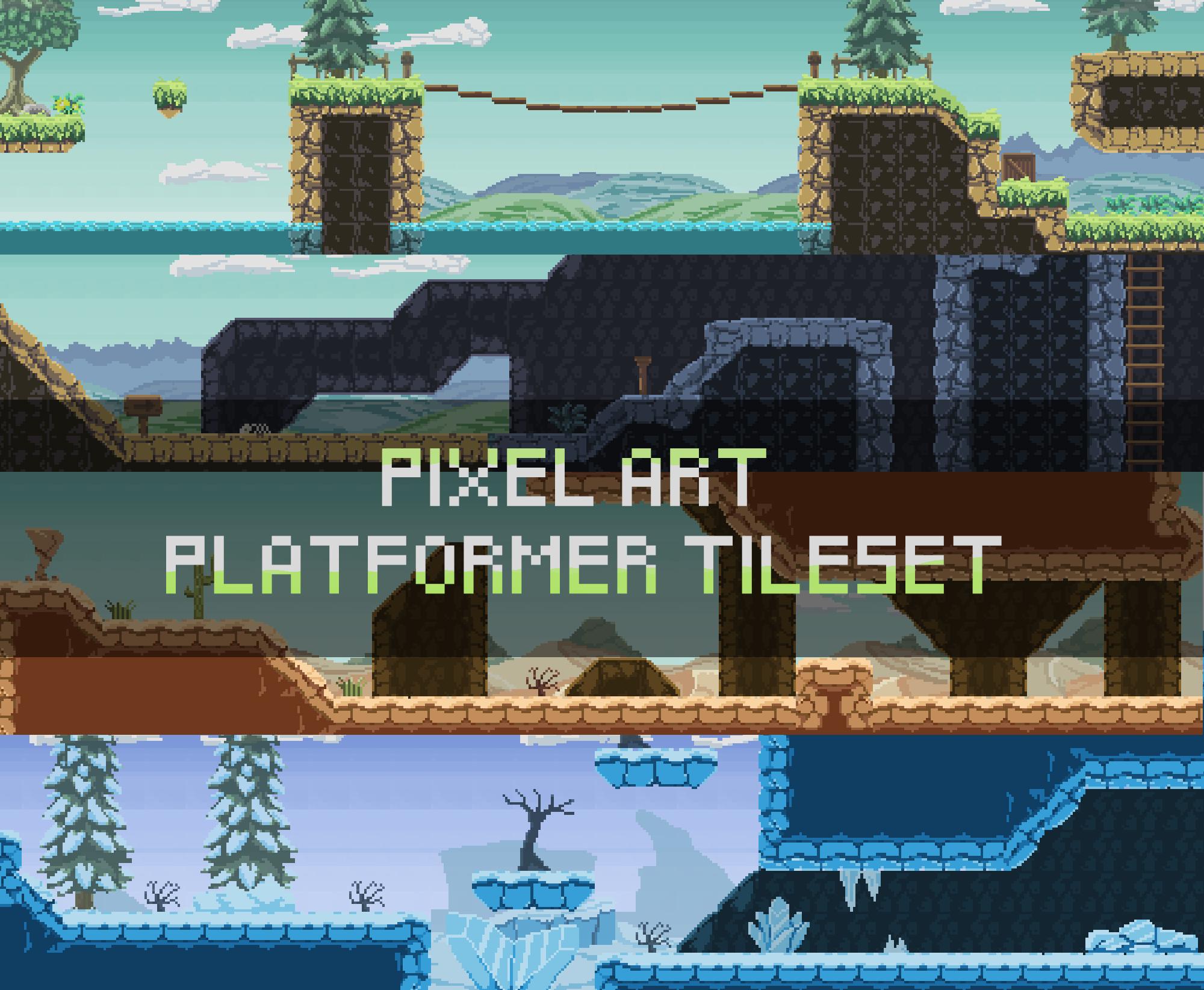 Pixel Art Platformer Tileset