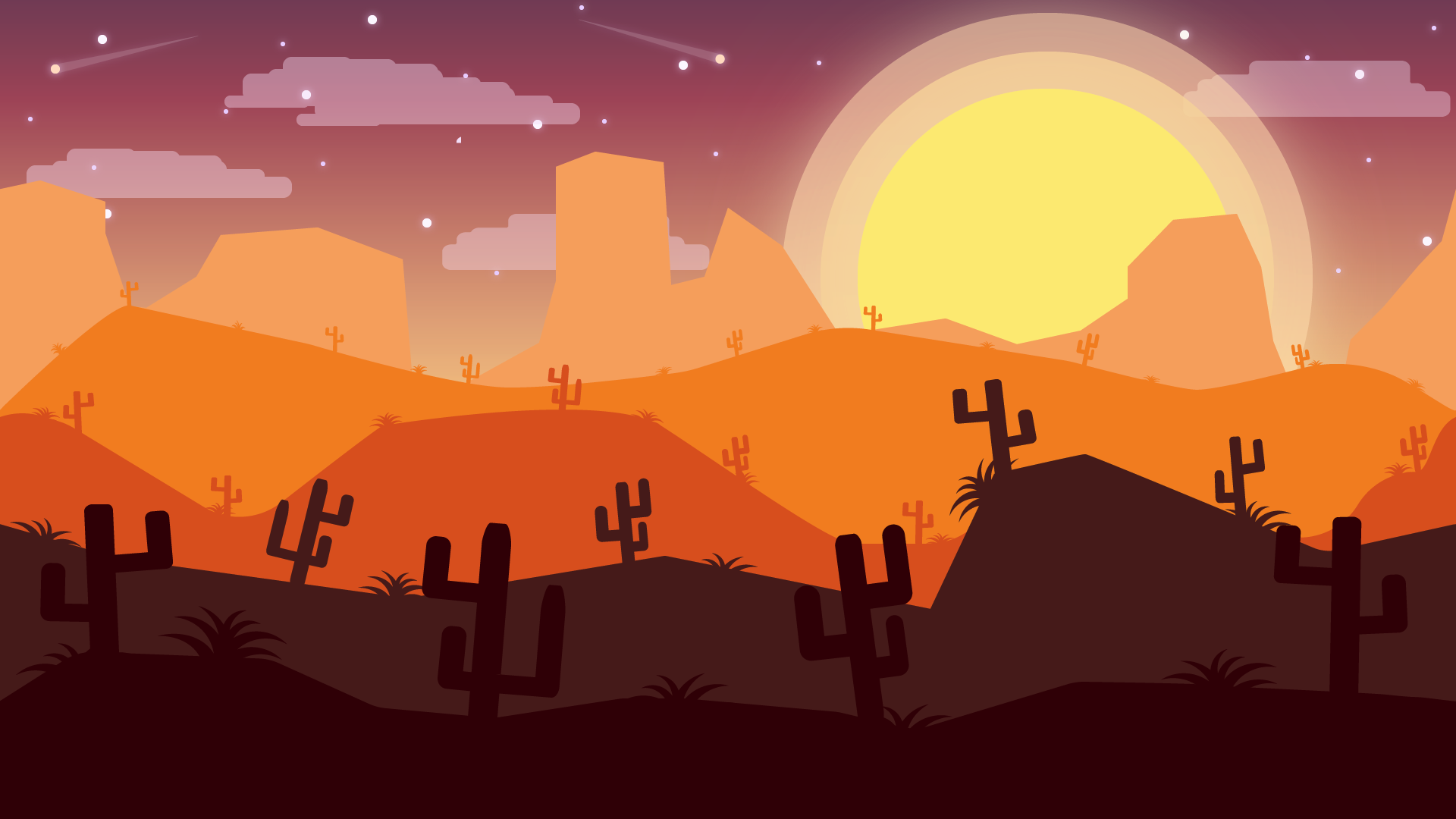 Parallax Desert Background