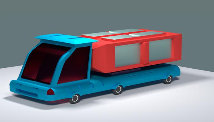 Lowpoly Sci_fi Truck