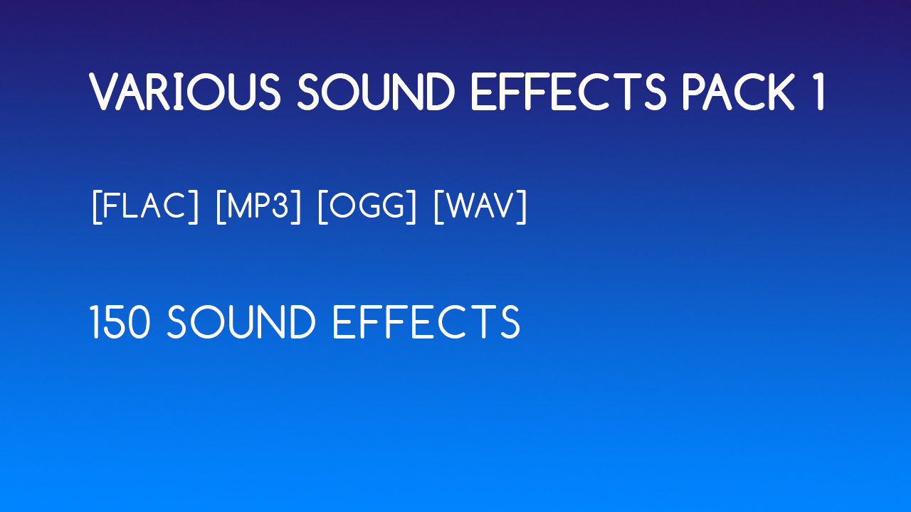 Various sound effects pack 1