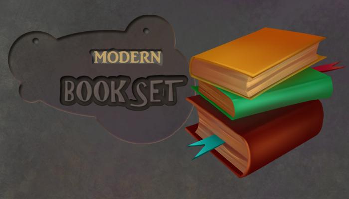Modern bookset