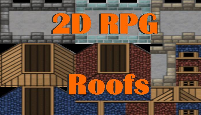 2D RPG Roofs Tileset