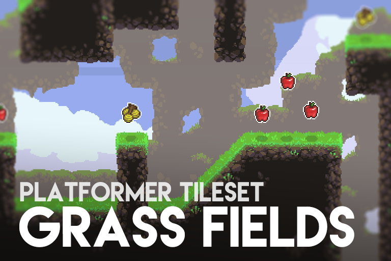 Grass Fields – Platformer Tileset