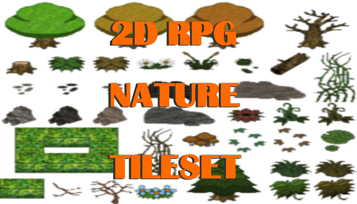 2D RPG Nature Tileset