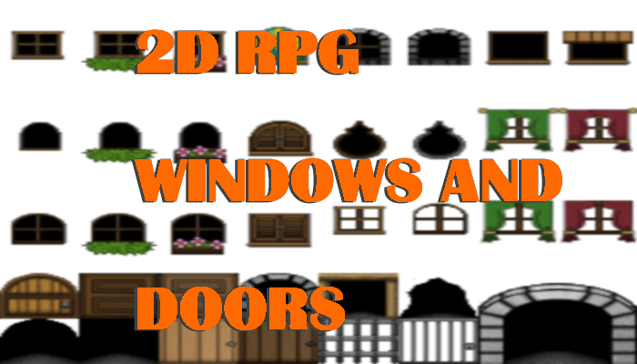 2D RPG Windows and Doors
