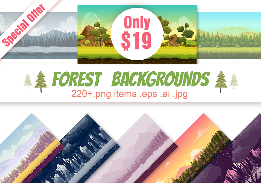 Forest Backgrounds Pack