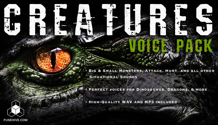 CREATURE VOICES – Dinosaur, Dragons and Monsters of all Sizes