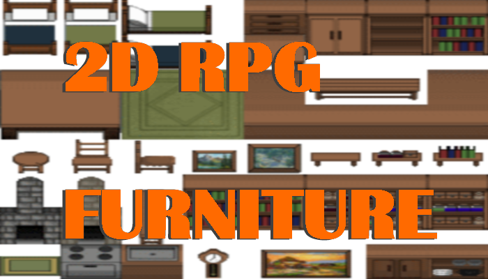 2D RPG Furniture Tileset