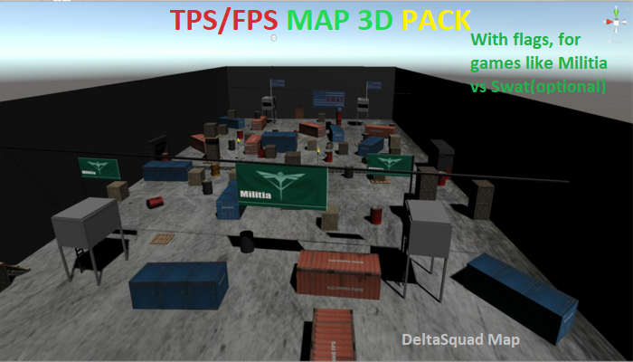 Delta Squad Map FPS PACK – Unity Engine