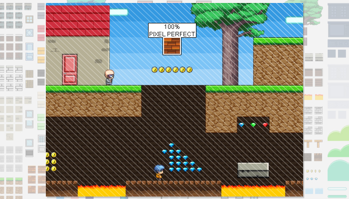 2D platformer Game Pixel Art Tileset