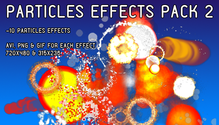 Particles effects pack 2 (AVI, PNG & GIF)