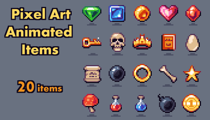Game Collectable Pack – Pixelart