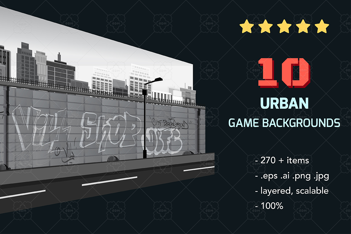 Urban Game Backgrounds