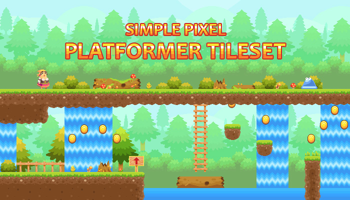 Simple Pixel Platformer Tileset