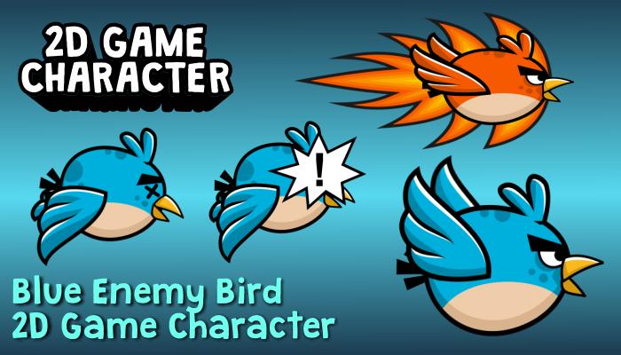 Blue Enemy Bird