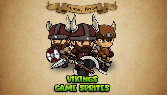 Fantasy Heroes: Vikings Sprite Sheet