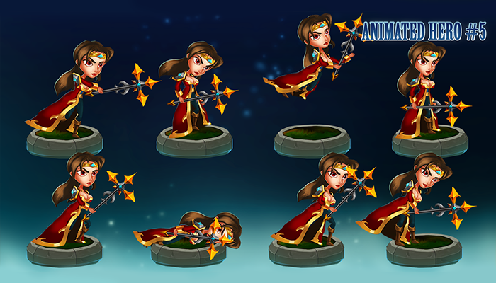 Animated 2D Character – Female Mage