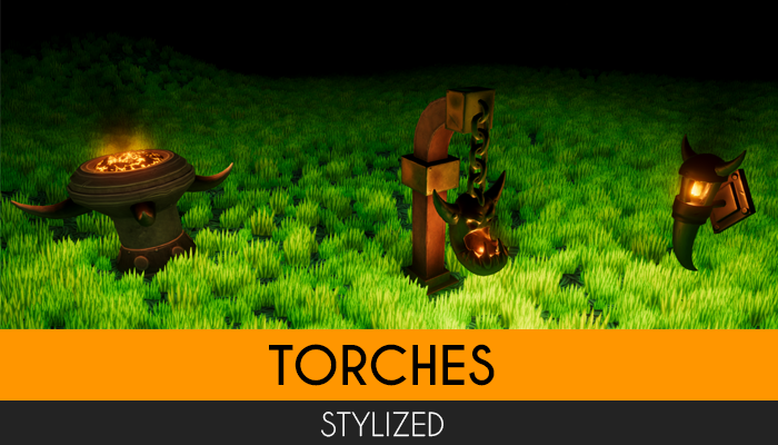 STYLIZED: Torches
