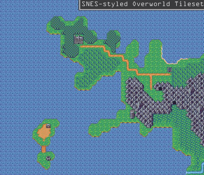 SNES-styled Overworld Tileset