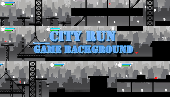 City Run Game Background