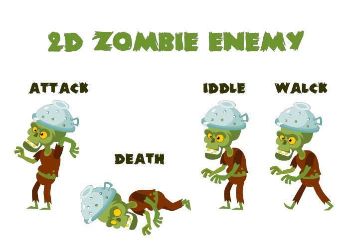 2D Zombie Enemy