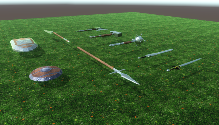 Medieval Weapons LowPoly Pack1