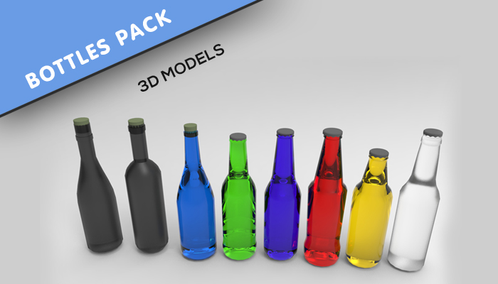 Bottles pack – 3D models
