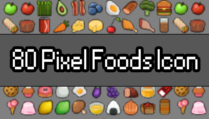 80 Pixel Foods Icon Pack
