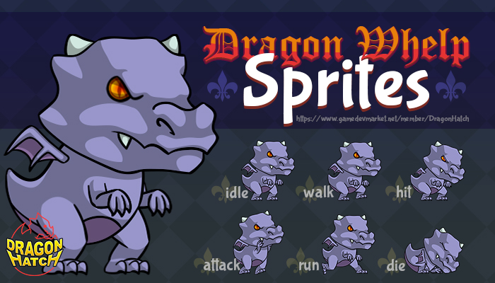 Dragon Whelp Sprites