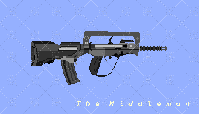 The Middleman Real Life FAMAS G2 Pixel Art For Game Use