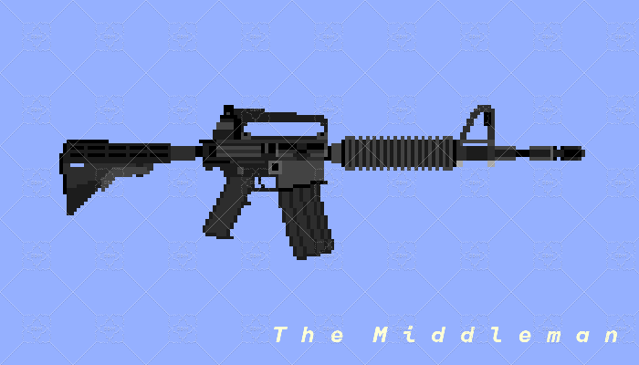 The Middleman Real Life M4A1 Carbine Pixel Art For Game Use