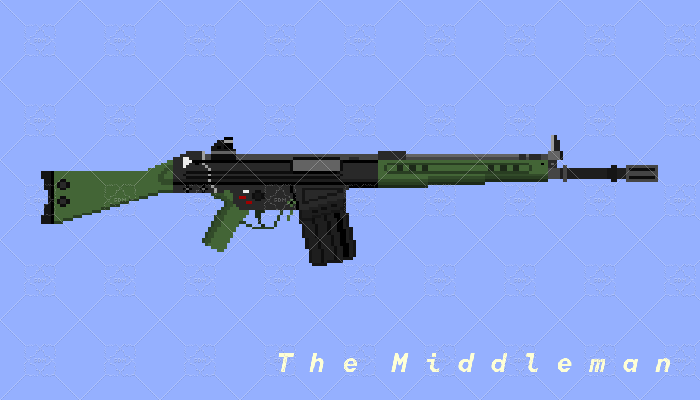 The Middleman Real Life G3A3 Battle Rifle Pixel Art For Game Use