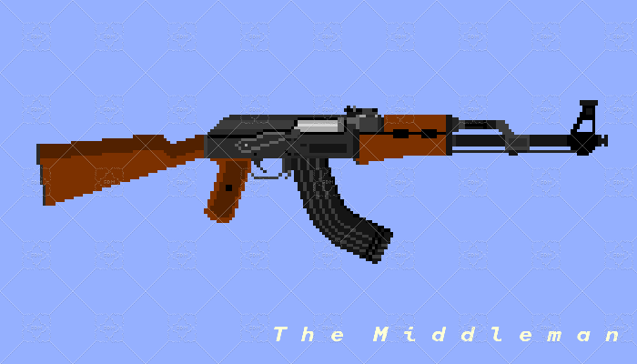 The Middleman Real Life AK-47 Pixel Art For Game Use