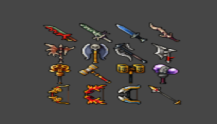 Pack of weapons