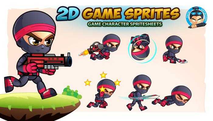 Ninja 2D- Game Character Sprites 15