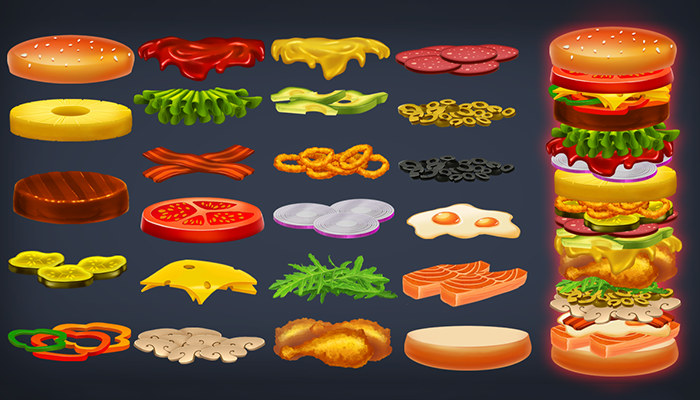 Universal Burger Game Assets