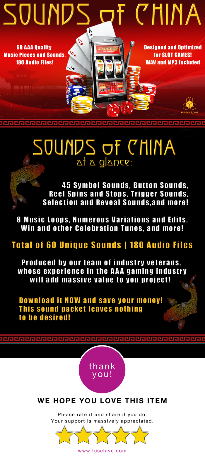 CHINA SLOT GAME SOUND PACK – Royalty Free Music and Sound Effects