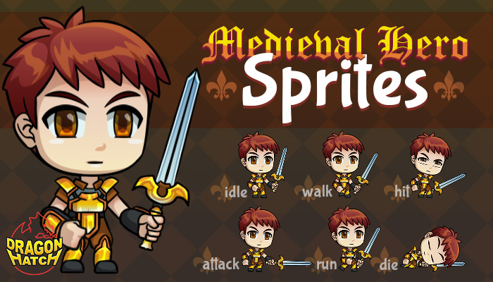 Medieval Hero Sprites