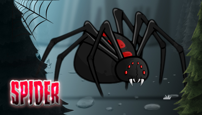 Giant Black Widow Spider Sprites