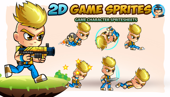 2D Game Character Sprites