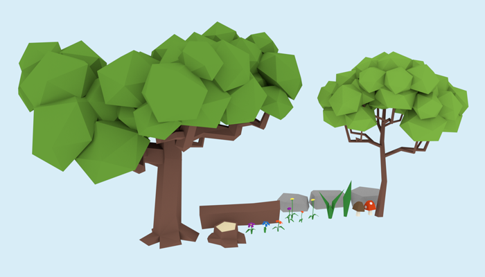LowPoly Forest Asset