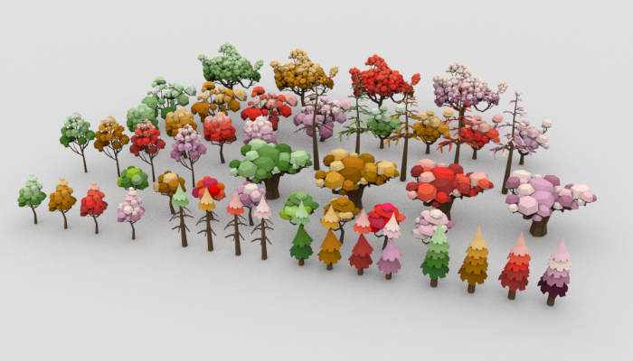 LowPoly Trees Pack 03