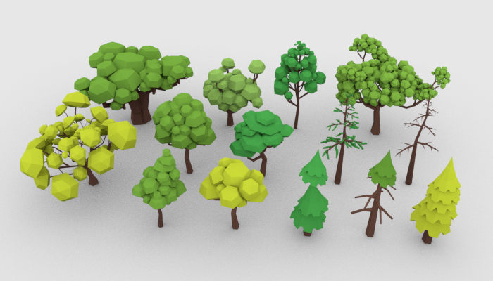 LowPoly Trees Pack 02