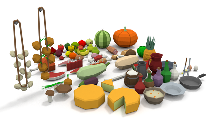 LowPoly Food Pack