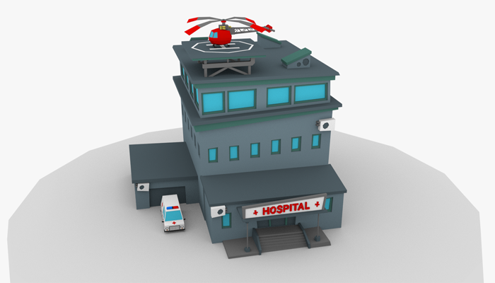 LowPoly Cartoon Hospital
