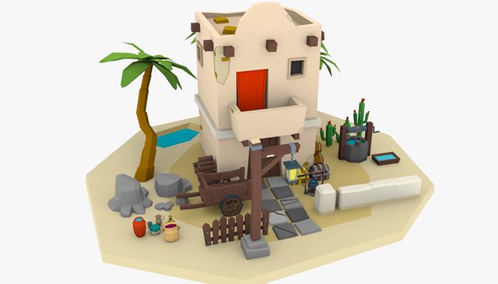 LowPoly Desert Building