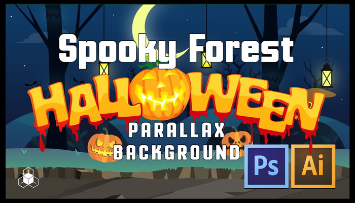 SPOOKY FOREST – 2D Cartoony Halloween Parrallax Background