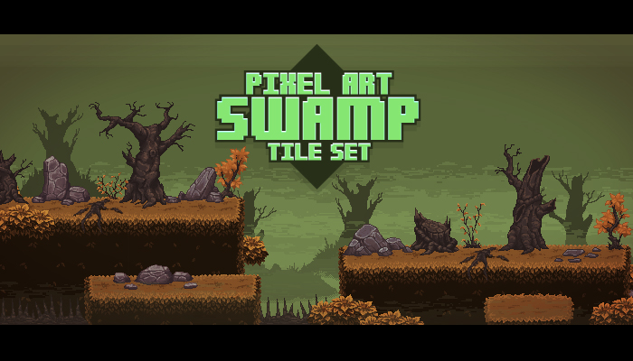 Pixel Art Swamp Tile Set