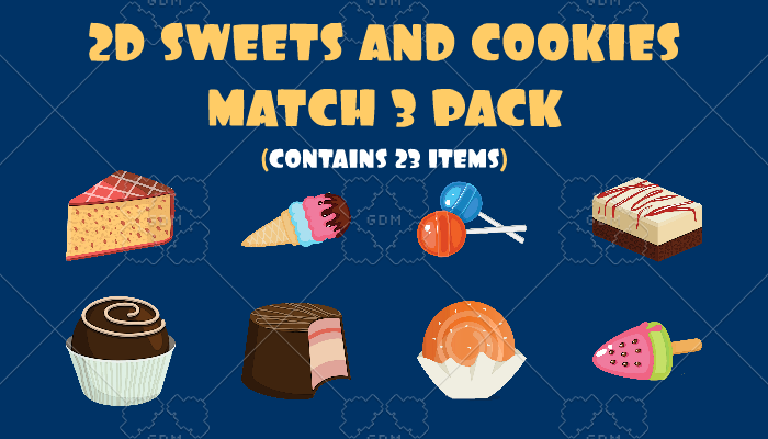 2D Sweets And Cookies Match 3 Pack